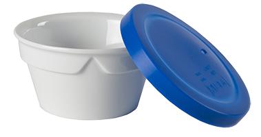 bol porcelaine couvercle bleu